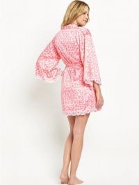 Heart Print Kimono