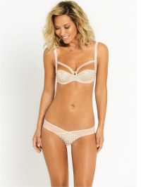 Diamond  Balconette Bra - Nude
