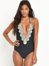 Lace Plunge Swimsuit